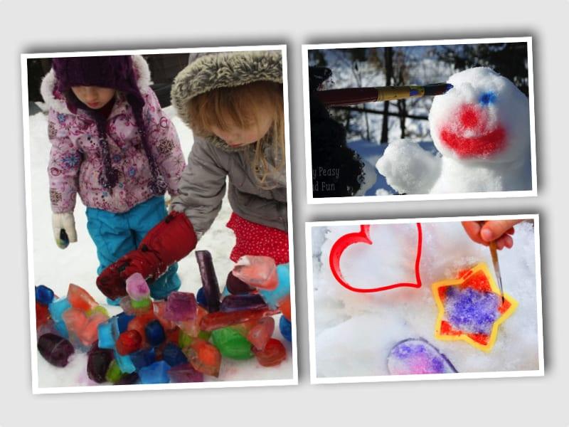 barn, barnlekar, lekar för barn, utomhuslek, leka ute, leka i snön, skapa, pyssel, barnpyssel, kreativa lekar, snölekar