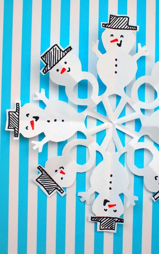 pyssel, pysseltips, pysselidé, barnpyssel, pyssel för barn, snögubbe, snögubbar, vinter, vinterpyssel, julpyssel, pyssel jul, enkla pyssel, roliga pyssel, snöflinga, snöflingor, mönster på snöflingor