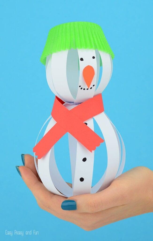 pyssel, pysseltips, pysselidé, barnpyssel, pyssel för barn, snögubbe, snögubbar, vinter, vinterpyssel, julpyssel, pyssel jul, enkla pyssel, roliga pyssel, papperspyssel, papperskulor, pappersbollar