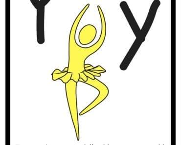 aktiviteter för barn, barnaktiviteter, pyssla och lek, knep och knåp, lära sig alfabetet, lära sig bokstaven Y, röra på sig, lekar, rörelselekar
