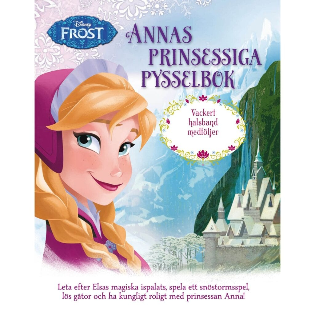 pyssel, barnpyssel, köpa pyssel, pyssel för barn, prinsessan Anna, Disney Princess, pysselbok