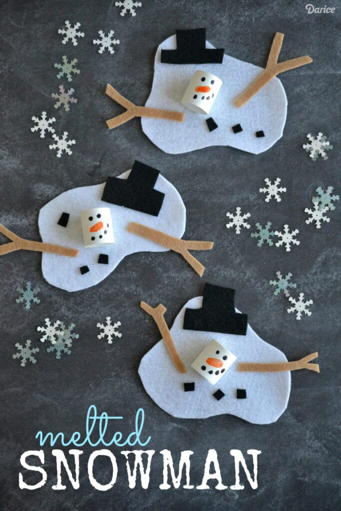 pyssel, pysseltips, pysselidé, barnpyssel, pyssel för barn, snögubbe, snögubbar, filttyg, hobbyfilt, vinter, vinterpyssel, julpyssel, pyssel jul, enkla pyssel, roliga pyssel