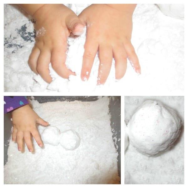 experiment, experiment för barn, naturvetenskap, NO, pyssel, pyssel för barn, barnpyssel, jul, julpyssel, julpyssel för barn, recept på snö, göra egen snö, leklera, recept på leklera
