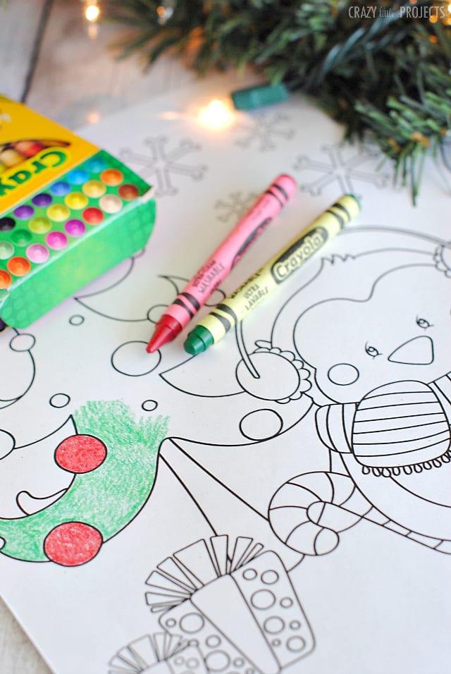aktiviteter för barn, barnaktiviteter, pyssla och lek, knep och knåp, lektioner, skola, lektionstips, förskola, julpyssel, julpyssel för barn, målarbilder, målarbild jul, julmotiv, pingvin