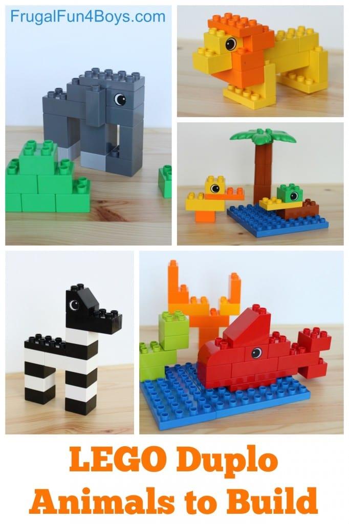 aktiviteter för barn, barnaktiviteter, pyssla och lek, knep och knåp, lektioner, skola, lektionstips, förskola, LEGO Duplo, lära sig djur