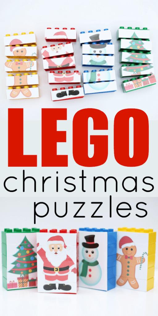 aktiviteter för barn, barnaktiviteter, pyssla och lek, knep och knåp, lektioner, skola, lektionstips, förskola, julpyssel, julpyssel för barn, LEGO Duplo, göra om LEGO, pussel, pussla, pussel med julmotiv