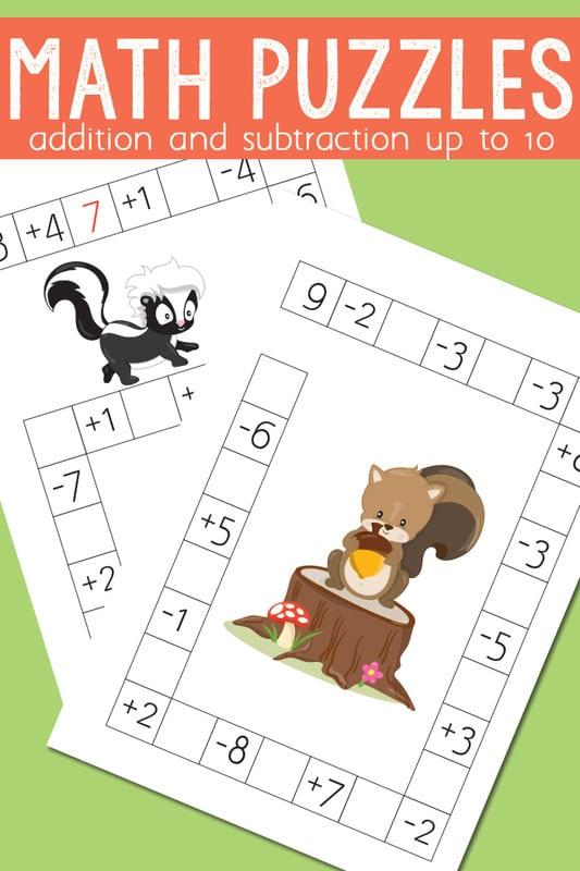 aktiviteter för barn, barnaktiviteter, pyssla och lek, knep och knåp, lektioner, skola, lektionstips, förskola, mattepyssel, matematik, lära sig räkna, lära sig matte, korsord, mattekorsord, korsord med mattetal, mattepussel