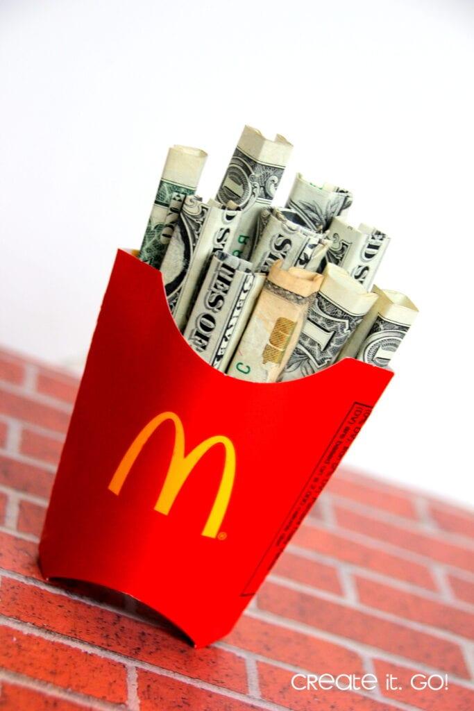 pengar som pommes frites, McDonalds