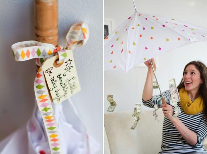 paraply med pengar