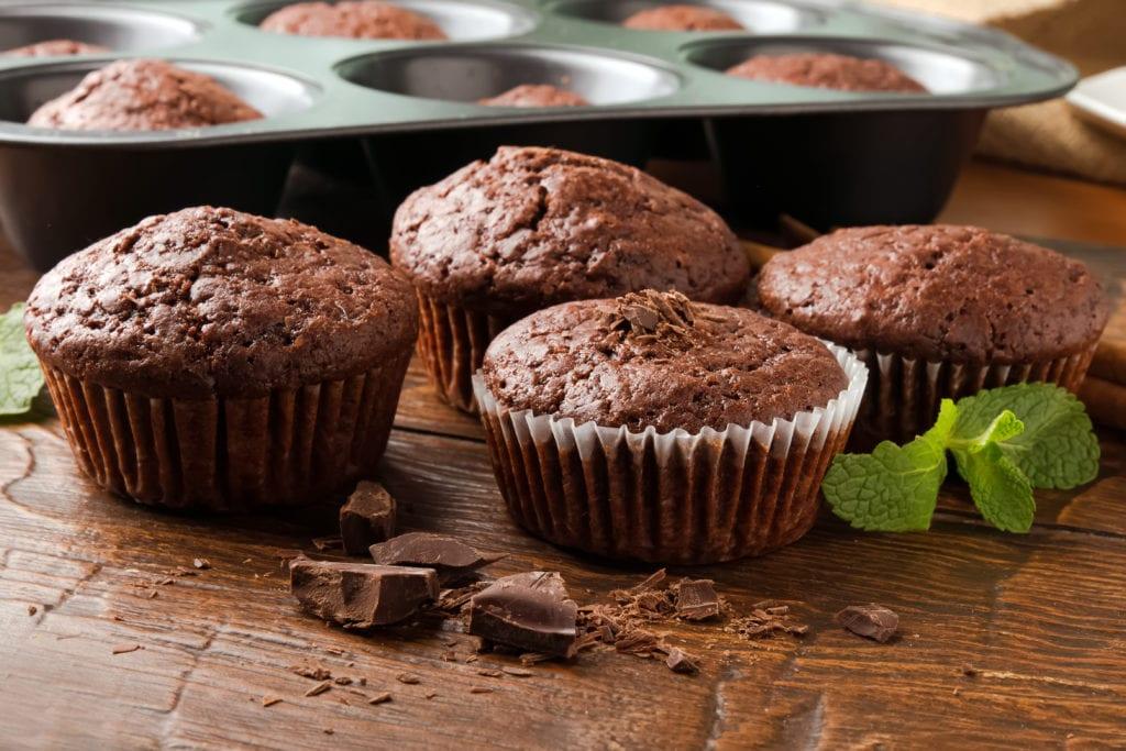 muffins, choklad, chokladmuffins, recept för barn, barnrecept, recept, baka med barn