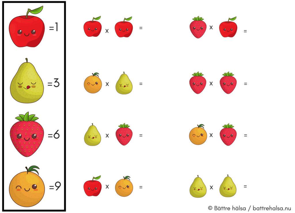 lära sig räkna, lära sig ekvationer, mattepyssel, ekvationer för barn