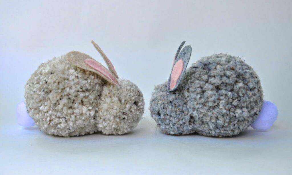 Pyssel för barn, kaniner, pompoms