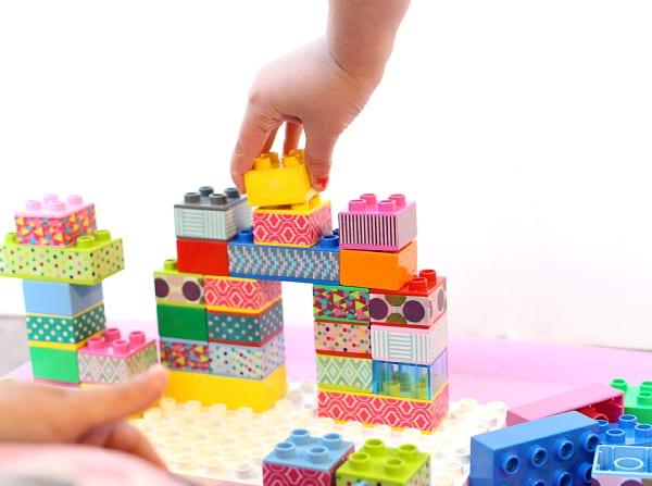Ge dina LEGO Duplo-klossar ett lyft med washitejp, pysseltips, DIY
