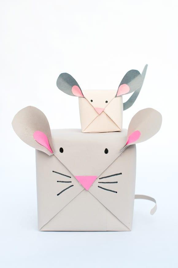 mus, möss, paket, paketinslagning, present, paket, gåva, pyssel, pyssla, skapa, DIY