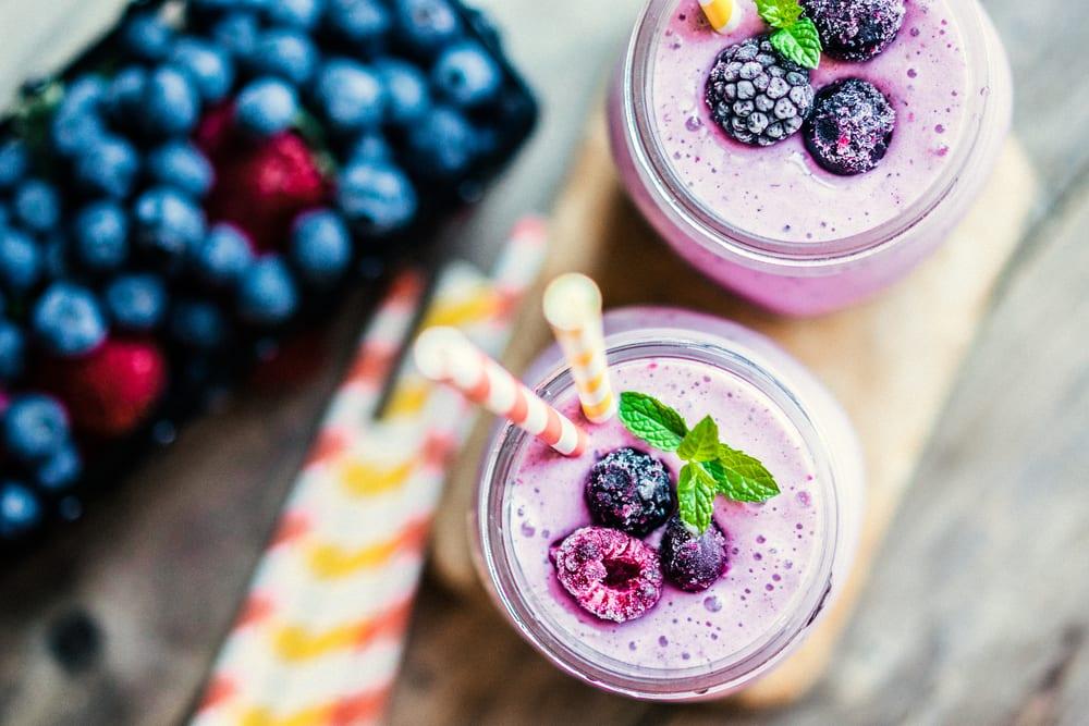 shake, protein, proteinshake, recept, bär, bärsmak