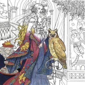 a game of thrones, målarbok för vuxna, målarböcker, målarbilder