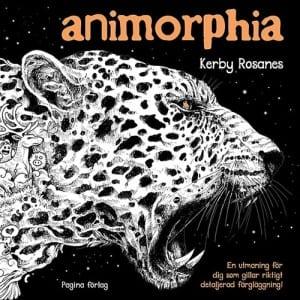 Kerby Rosanes, Animorphia, fantasydjur, målarbok, målarböcker, målarböcker för vuxna, målarbilder