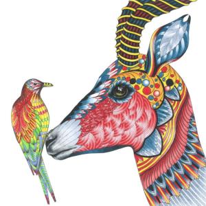 målarböcker för vuxna, Mille Marotta, Den vilda savannen, målarbild, målarbilder, målarbilder för vuxna