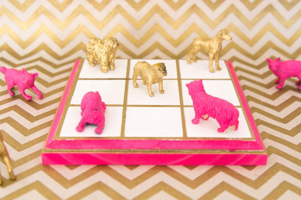 DIY tre-i-rad med plastdjur