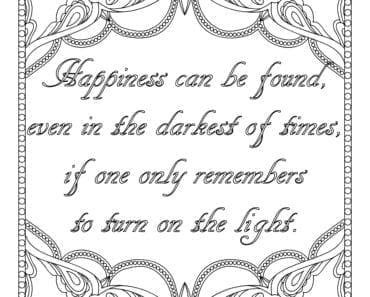 målarbilder, målarbild, gratis målarbilder, gratis målarbild, målarbok, målarböcker, målarbok för vuxna, målarböcker för vuxna, zentangle, mandala, mindfulness, måla, färglägga, mindfullness, doodle, bättre hälsa, bra hälsa, må bra, Happiness can be found, even in the darkest of times, if one only remembers to turn on the light, citat, Harry Potter, Dumbledore, J K Rowling, lycka