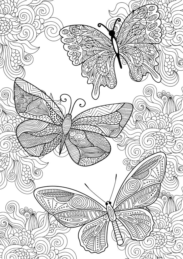målarbilder, målarbild, gratis målarbilder, gratis målarbild, målarbok, målarböcker, målarbok för vuxna, målarböcker för vuxna, zentangle, mandala, mindfulness, måla, färglägga, mindfullness, doodle, bättre hälsa, bra hälsa, må bra, ornament, ornamentik, fjärilar, fjäril