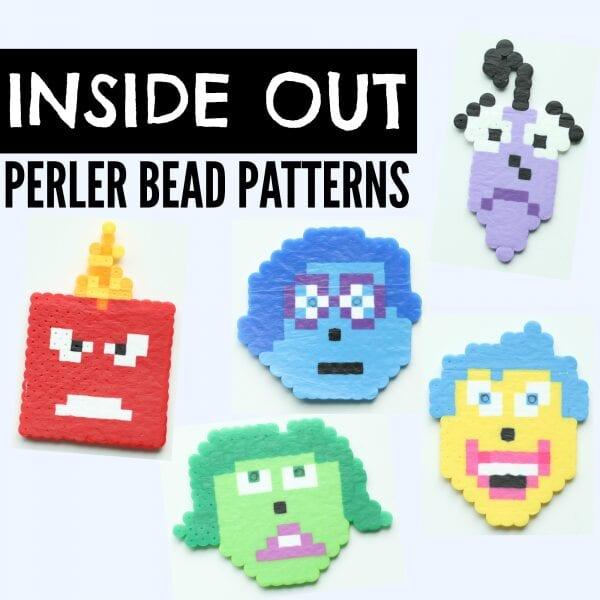 pärlor, pärlplatta, pyssel, pysseltips, mönster, Disney, Insidan ut