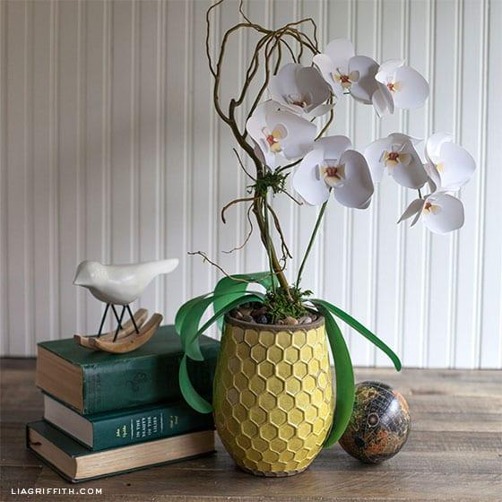 pyssel, pysseltips, pyssla, papper, papperspyssel, pyssla med papper, orkidé, pappersblommor