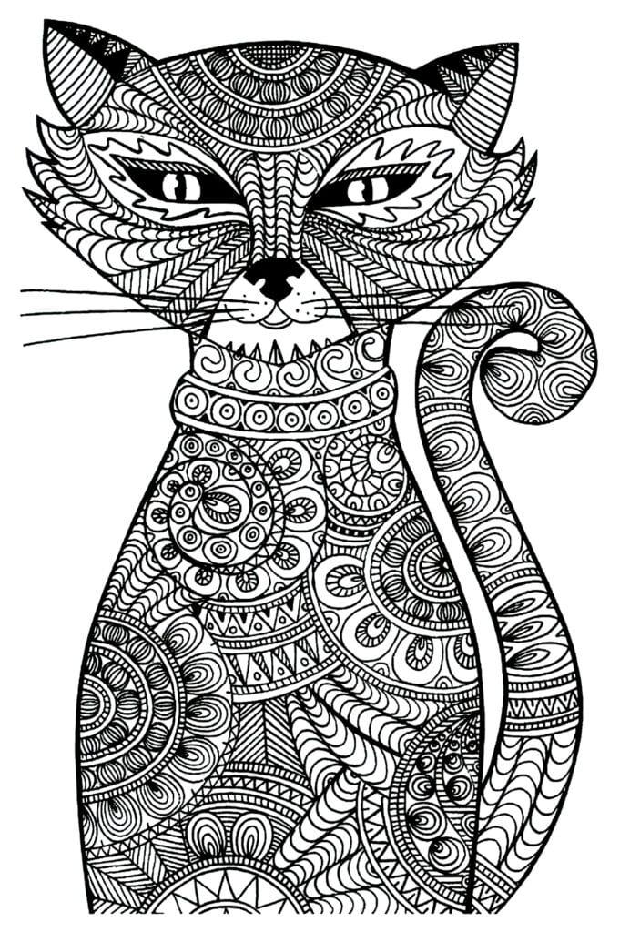 målarbilder, målarbild, gratis målarbilder, gratis målarbild, målarbok, målarböcker, målarbok för vuxna, målarböcker för vuxna, zentangle, mandala, mindfulness, måla, färglägga, mindfullness, doodle, bättre hälsa, bra hälsa, katt, kattbilder, kattmotiv, djur, djurmotiv, bilder på husdjur