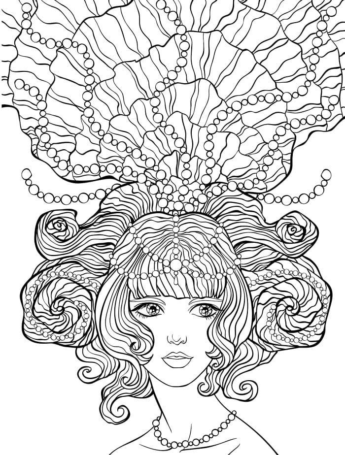 målarbilder, målarbild, gratis målarbilder, gratis målarbild, målarbok, målarböcker, målarbok för vuxna, målarböcker för vuxna, zentangle, mandala, mindfulness, måla, färglägga, mindfullness, doodle, bättre hälsa, bra hälsa, saga, sagor, fantasy, fantasybilder, sagomotiv, prinsesshår, hårmodell, kvinna, prinsessa, drottning
