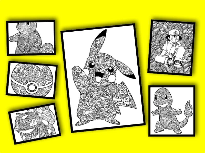 målarbilder, målarbild, gratis målarbilder, gratis målarbild, målarbok, målarböcker, målarbok för vuxna, målarböcker för vuxna, zentangle, mandala, mindfulness, måla, färglägga, mindfullness, doodle, bättre hälsa, bra hälsa, Pokémon, pokéball, pokéboll, poké ball, poké boll, Ash, Pikachu, Bulbasaur, Squirtle, Charmander