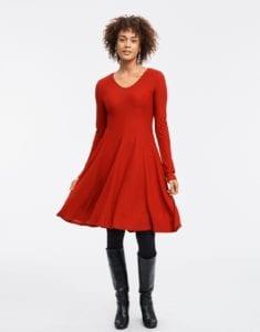 nyårsblåsa, festblåsa, klänning, mode, nyårskläder, nyår, kläder, röd klänning, jersey, vid, vid klänning