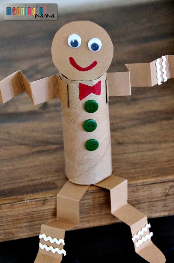 pyssel, pyssla, pysseltips, pysselidé, skapa, barnpyssel, familjepyssel, pyssel för barn, bättre hälsa, bra hälsa, må bra, kreativitet, skapande, skaparglädje, jul, julen, pyssel inför jul, julpyssel, pepparkakor, pepparkaksgubbe, toarulle, toarullar, pyssel med toarullar, toarullepyssel