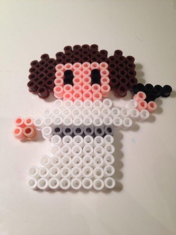 hama, hama pärlor, pärla, pärlor, Star Wars, mönster, pärlplattemönster, pärlplatta, pärlplattor, pärla på pärlplattor, Prinsessan Leia, Leia, Leia Organa