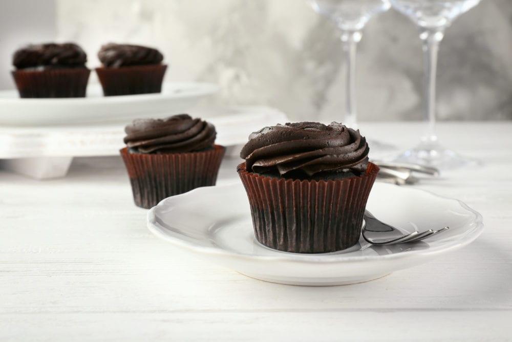 baka vego, vegan, vegansk, cupcake, muffins, frosting, vegansk frosting, choklad, chokladmuffins, recept, dessert