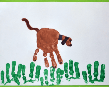 pyssel, pyssla, pysseltips, pysselidéer, barn, barnpyssel, pyssel för barn, enkelt pyssel, avtryck, handavtryck, skola, förskola, fritids, skapa, skapande, kreativitet, hundar, hund, husdjur