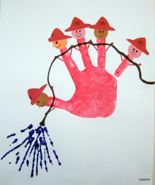 pyssel, pyssla, pysseltips, pysselidéer, barn, barnpyssel, pyssel för barn, enkelt pyssel, avtryck, handavtryck, skola, förskola, fritids, skapa, skapande, kreativitet, brandmän, brandman