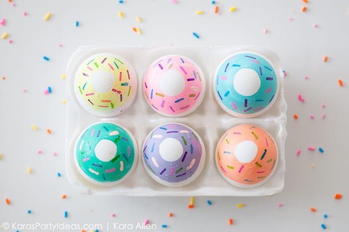 påsk, påskpyssel, pyssel, pysseltips, pysselidéer, måla ägg, donut, kawaii