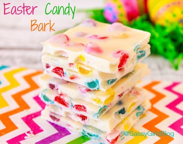 recept, påsk, påskgodis, bräck, chokladbräck, vit choklad, gelébönor, Jelly Beans, Jelly Belly