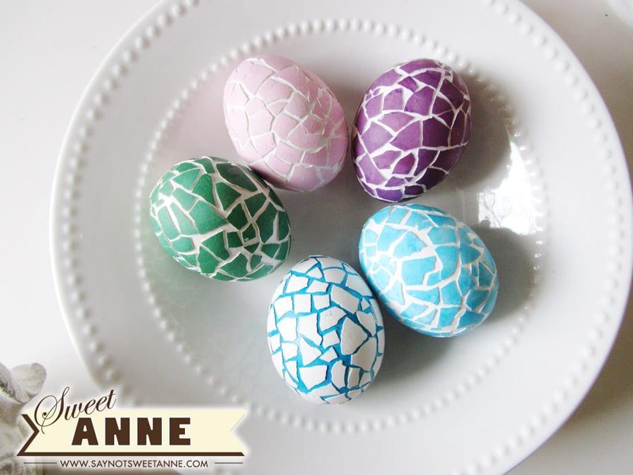 påsk, påskpyssel, pyssel, pysseltips, pysselidéer, måla ägg, mosaik