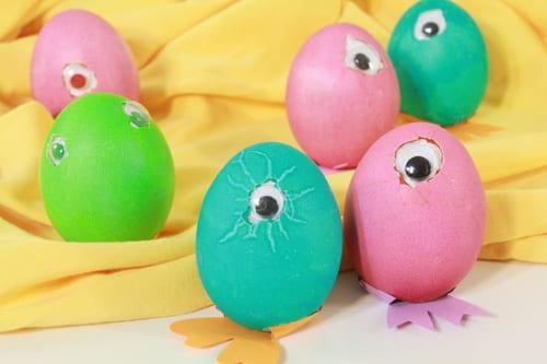 påsk, påskpyssel, pyssel, pysseltips, pysselidéer, måla ägg, kyklop, cyklop