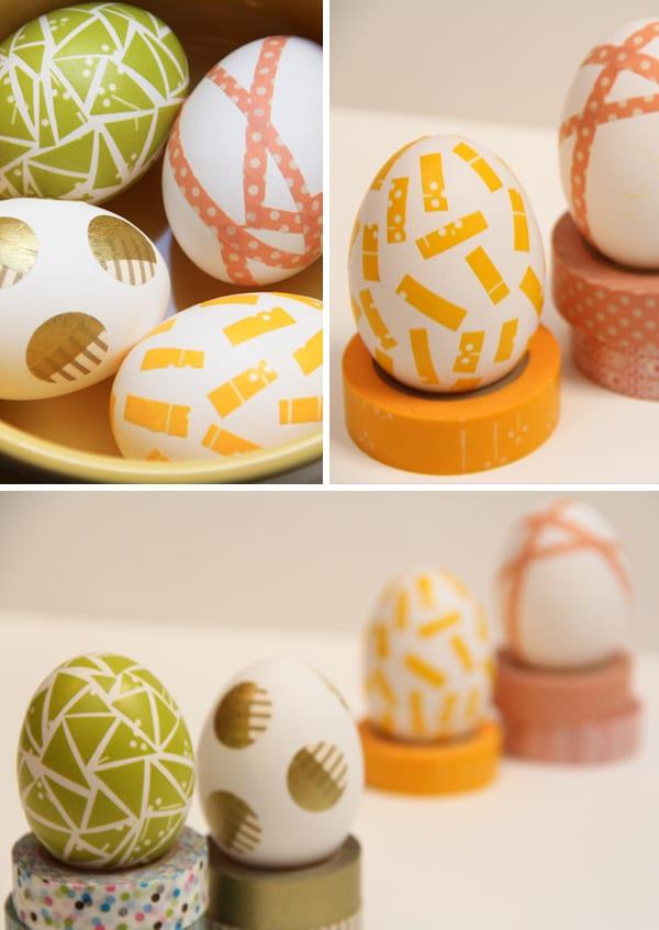påsk, påskpyssel, pyssel, pysseltips, pysselidéer, måla ägg, washi, washi tejp, washi tape, washitejp