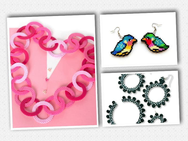 pyssel, pyssla, pysseltips, pysselidé, skapa, smycken, göra smycken, pärla, pärlor, rörpärlor, HAMA, pärlplatta, pärlplattor, mönster, pärlplattemönster