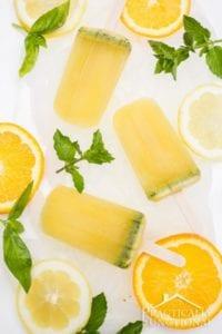 recept, drink, drinkrecept, glass, glasspinnar, citrus, apelsin, citron, mynta, basilika, mojito, rom