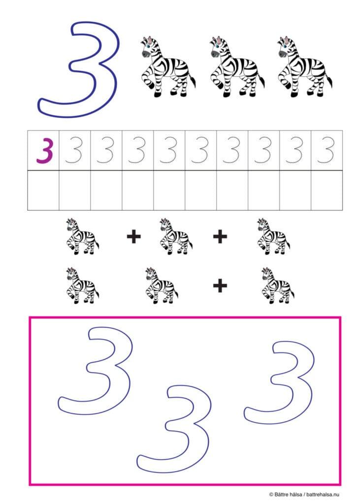 lära sig räkna, räkna, matte, räkna till tio, pyssla och lek, bättre hälsa, pyssel för barn, barnpyssel, matte, matematik, mattepyssel, pyssel, knep och knåp, räkna till 3, tre