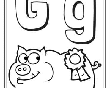 aktiviteter för barn, barnaktiviteter, pyssla och lek, knep och knåp, måla, färglägg, målarbild, alfabetet, bokstaven G