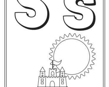aktiviteter för barn, barnaktiviteter, pyssla och lek, knep och knåp, måla, färglägg, målarbild, alfabetet, bokstaven S