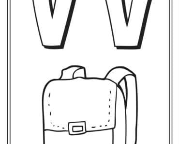 aktiviteter för barn, barnaktiviteter, pyssla och lek, knep och knåp, måla, färglägg, målarbild, alfabetet, bokstaven V