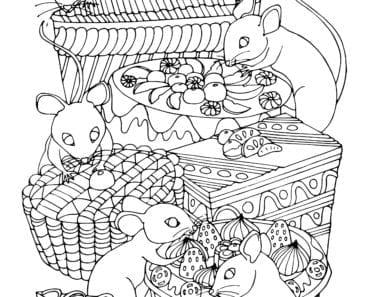 målarbilder, målarbild, gratis målarbilder, gratis målarbild, målarbok, målarböcker, målarbok för vuxna, målarböcker för vuxna, zentangle, mandala, mindfulness, måla, färglägga, mindfullness, doodle, bättre hälsa, bra hälsa, djur, mus, möss, kalas, tårta, tårtor, bakelser, bakverk, kaka, kakor