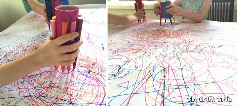 pyssel, barnpyssel, pyssel för barn, aktiviteter, aktiviteter för barn, toalettrulle, toarullepyssel, pyssel med toarullar, tuschpennor, tusch, penna, rita, måla
