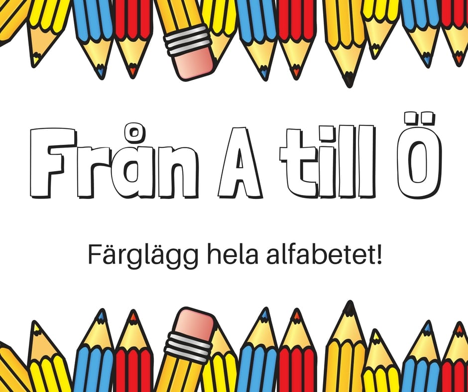 aktiviteter för barn, barnaktiviteter, pyssla och lek, knep och knåp, måla, färglägg, målarbild, alfabetet, bokstäver